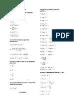 Problemas de Logaritmos y Exponentes Sin Resp
