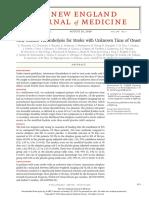 Articulo Trombolisis en ACV de Tiempo Desconocido NEJM
