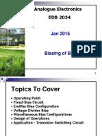 Analog Elect EDB2034 Jan 2016 - BJT Biasing