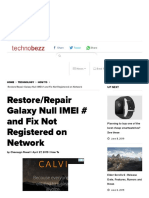 Restore Galaxy Null IMEI # and Fix Not Registered on Network