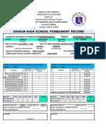 Form 137 Senior High
