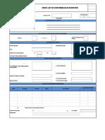 Check List de Conformidad de Material