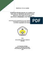 Analisis Inspeksi dan Pemeliharaan Jaringan Tegangan Menengah 20 KV Pada Penyulang SM5 Tataaran di PT.PLN (persero) ULP Tondano - JULIANDO ROMMY GERUNG.docx.docx