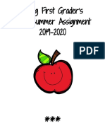 summer assignment 2019  incoming 1st graders