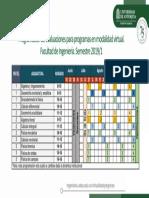 Programación de evaluaciones del tronco común 2019-1 para programas en modalidad virtual