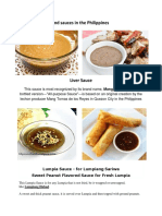 Commonly Food and Sauces in the Philippines