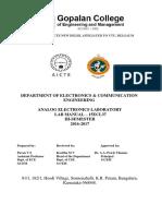 Analog Electronics Laboratory Manual 10ESL37