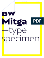 Bw Mitga Font Specimen