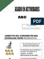 Taller de Indicadores metodo ABC