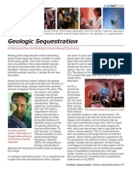 Geologic Sequestration