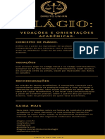 Infográfico sobre Plagio