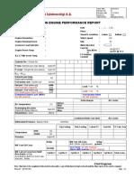 407.001 Main Engine Performance Report