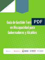 Guía de Gestión Territorial en Discapacidad para Gobernadores y Alcaldes