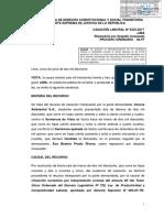 Cas. Lab. N° 06333-2017-Lima (Caso Eva Prado vs. Innova Ambiental S.A.)