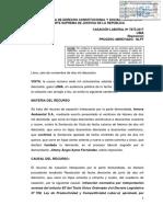 Cas. Lab. N° 07873-2017-Lima (Caso Jimmy Ayme vs. Innova Ambiental S.A.)