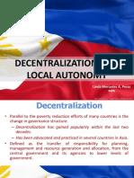 Decentralization and Local Autonomy