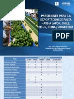 PRECISIONES CERTIFICACION FITOSANITARIA PALTA HASS   A  JAPON CHILE CHINA EEUU ARGENTINA 2.pptx