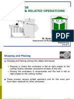 Lecture 1 Conventional Machining Shaping Grinding and Related Operations