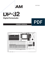 Tascam DP 32 Manual