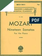 Mozart - 19 Sonatas for the Piano Schirmer