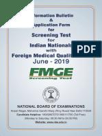 FMGE 2019 Information Bulletin English