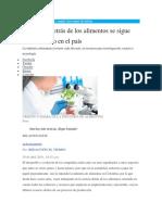 La Ciencia Detrás de Los Alimentos Se Sigue Consolidando en El País