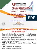 Semana 05 - Evaluación de Alternativas de Inversion - 1era. Parte