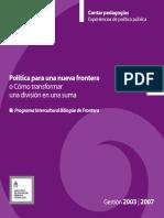 (2007) Políticas Para Una Nueva Frontera- MECyT 2007
