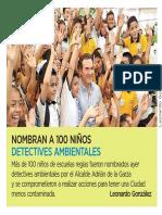 07-06-19 Nombran a 100 Niños detectives ambientales