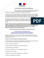 La Charte Des Droits Et Devoirs Du Citoyen Français