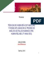 04. Técnicas de Ingeniería de Fiabilidad Aplicadas Al HRA_ppt_Carlos Parra 2010
