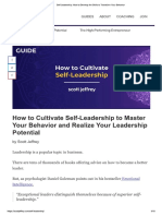 Article - How to Cultivate Self Leadership