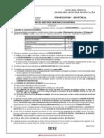 Prova Montada Pi Historia 2012 Pmd Prova Pi Historia 2012