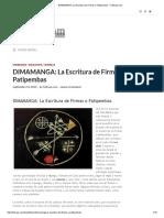 DIMAMANGA_ La Escritura de Firmas o Patipembas – TuBrujo.com