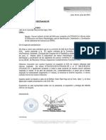 Oficio al Jefe de la Autoridad Nacional del Agua - ANA