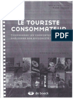 Le Touriste Consommateur.  Alain Decrop