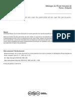 7. Briquel. Sur Le Mode d'Exécution en Cas de Parricide Et en Cas de Perduellio