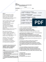Prueba SEMESTRAL Lenguaje 5 Basico 2019