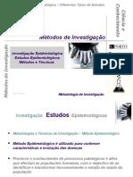 E - Estudos Epidemiológicos - Métodos e Técnicas