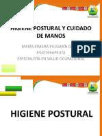 Higiene Postural y Cuidado de Manos