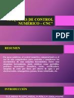 Máquinas de Control Numérico – Cnc