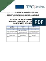 Manual de Procedimientos Para El Control de Cuentas Corrientes