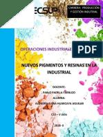 Nuevos Pigmentos y Resinas en La Industria