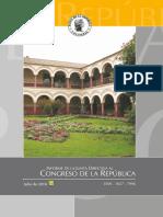 Informe Congreso de La Republica Julio 2016 Colombia
