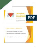 Educación de pacientes en tratamientos farmacológicos