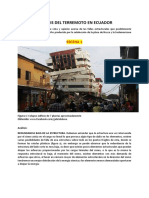 Análisis de sismo Ecuador