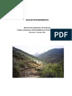 Guia de Procedimientos Muestreo de Sedimentos de Quebrada