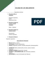 FARMACOLOGIA ANALGESICOS