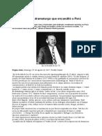 Raúl Salmón El Dramaturgo Que Encandiló Al Perú