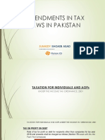Amendments in Tax Laws in Pakistan